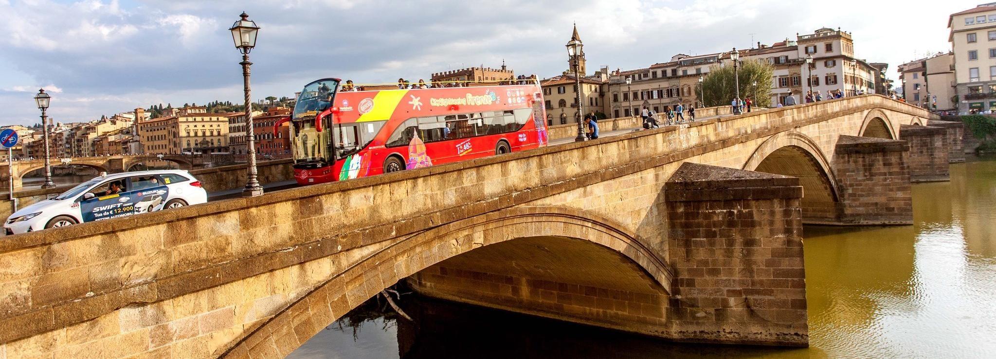 Hop on, hop off-bustour Florence: ticket 24, 48 of 72 uur