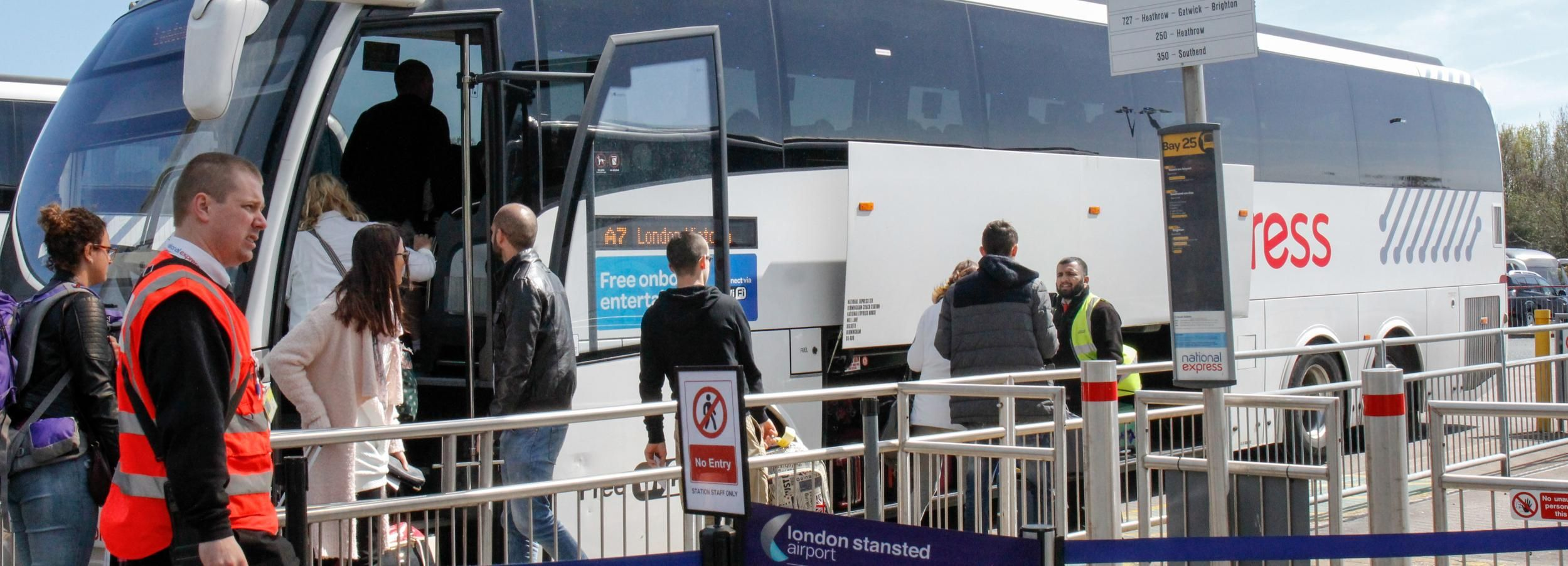 Bustransfer: Flughafen Stansted - Stadtzentrum London