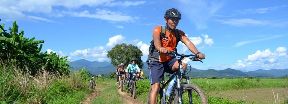 Tour en bicicleta por el valle de Mae Ngat desde Chiang Mai