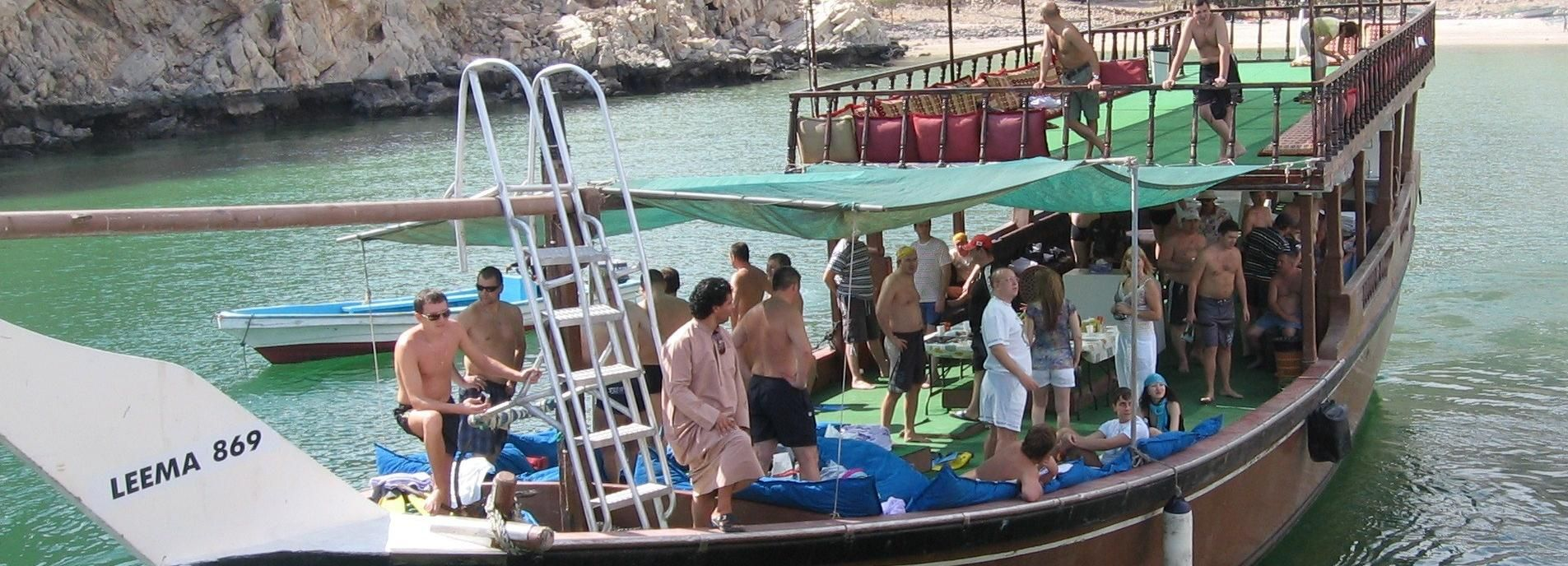 From Dubai: Musandam Dibba Dhow Cruise with Snorkeling