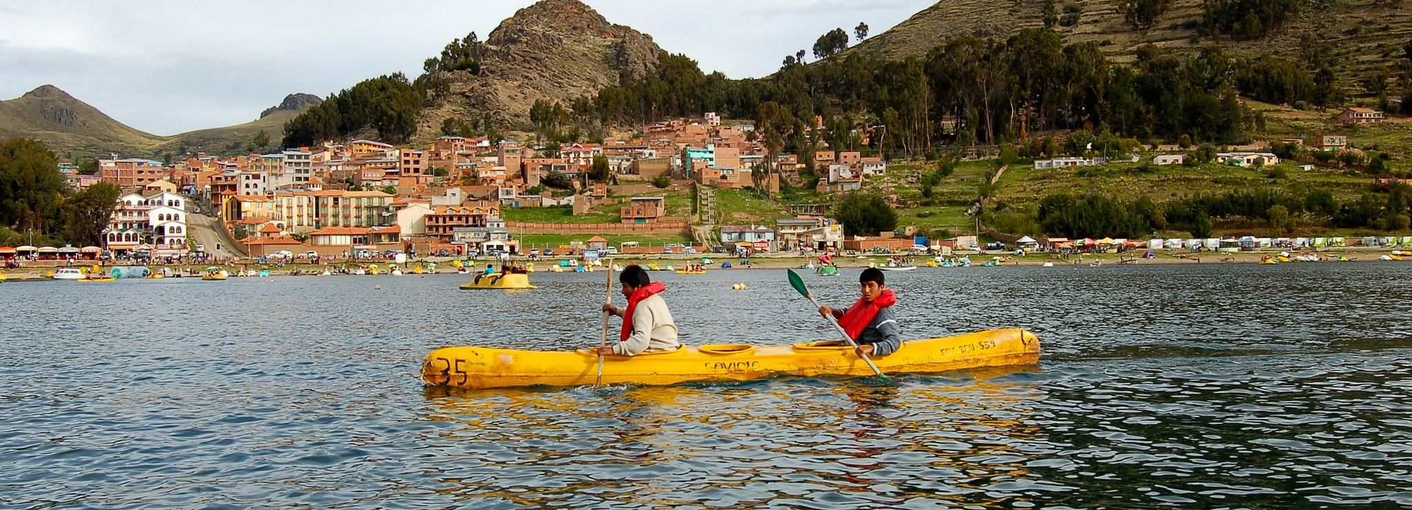 From Puno: Half-Day Kayak on Uros Floating Islands