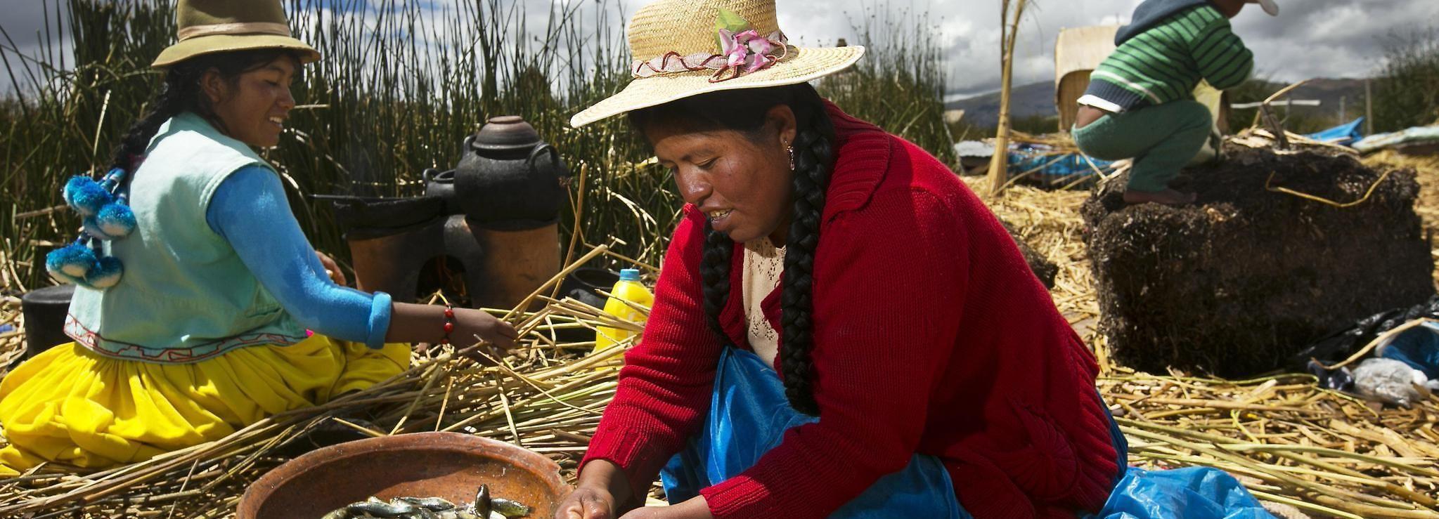 Excursão de 1 Dia ao Lago Titicaca, Uros e Taquile