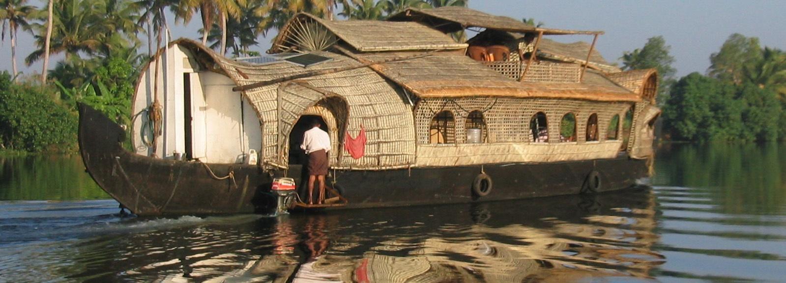 Kochi: Crucero de un día en una casa flotante privada con traslados