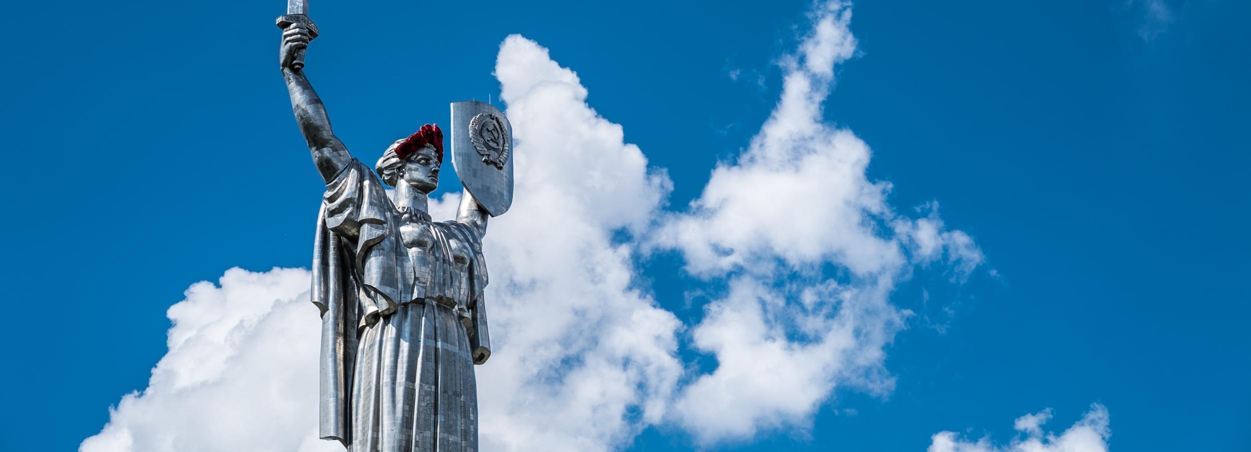 Kiev: Private Driving and Walking Tour of Soviet Kiev