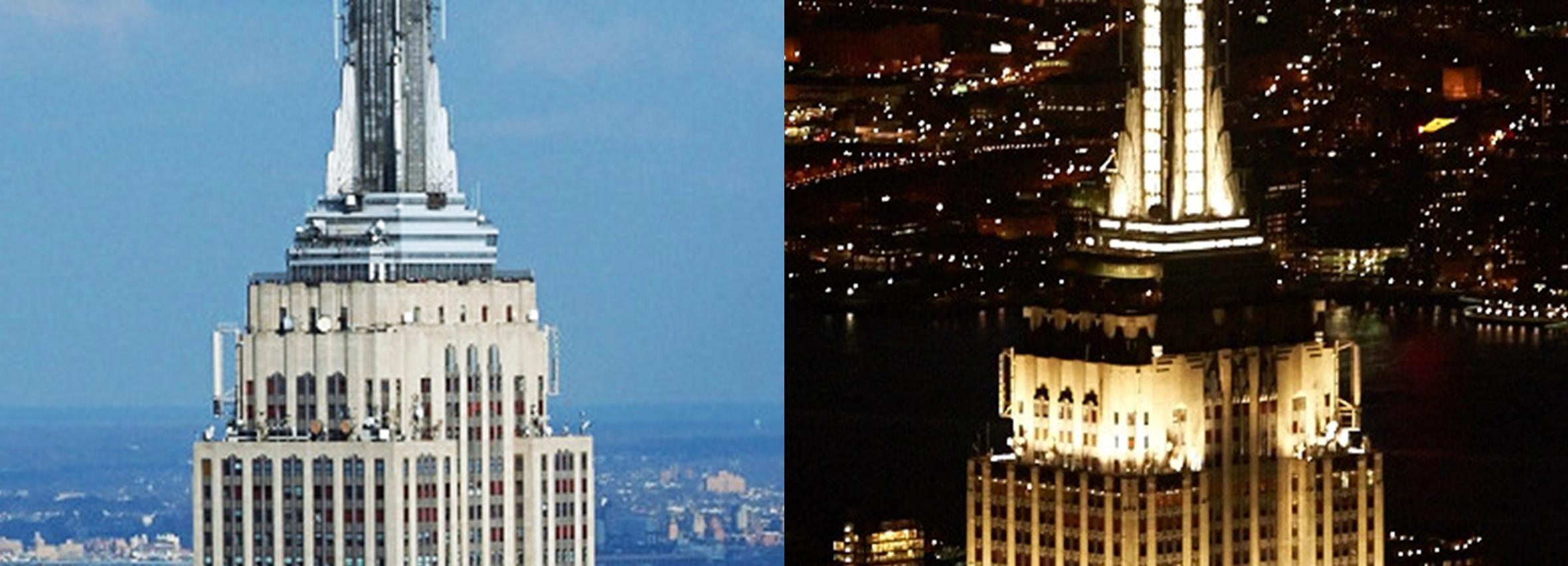 Ervaar het Empire State Building overdag en 's avonds