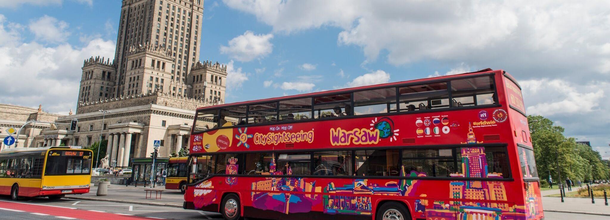 Warszawa: Hop-on-hop-off-busstur