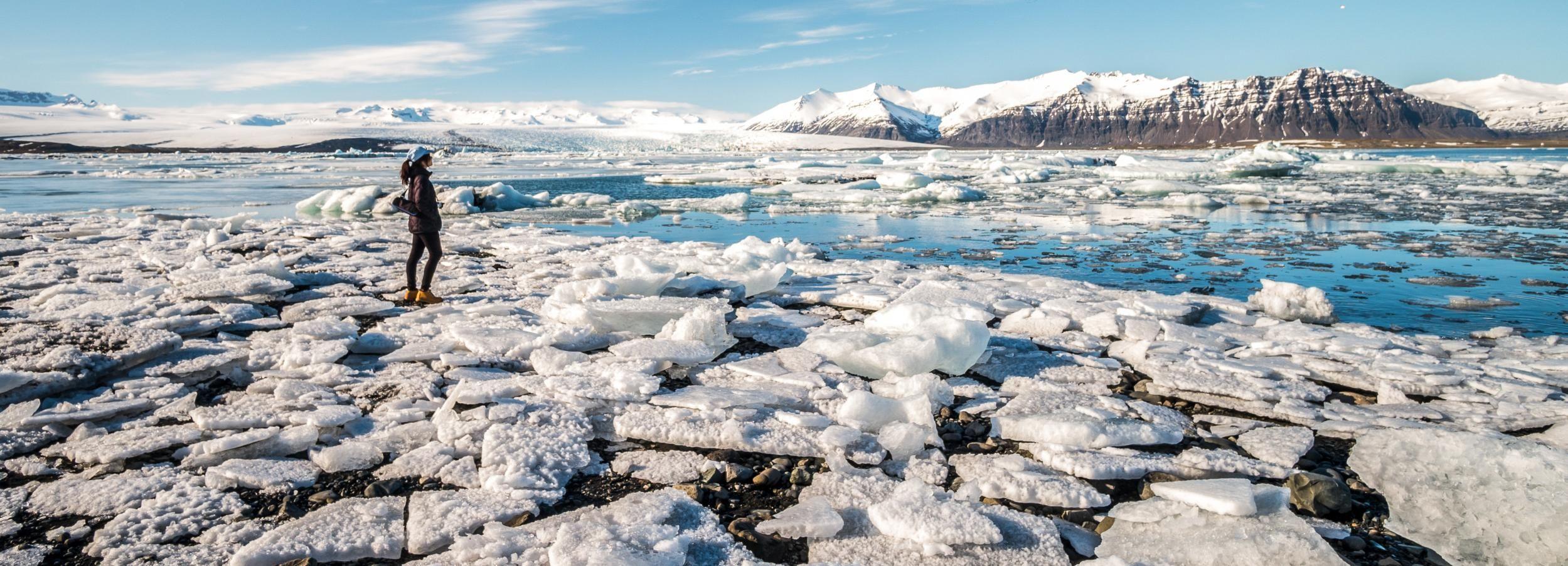 Lago glaciar Jökulsárlón: tour de 1 día desde Reikiavik