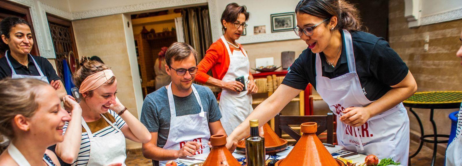 Marrakesh: tajine-kookles met een local