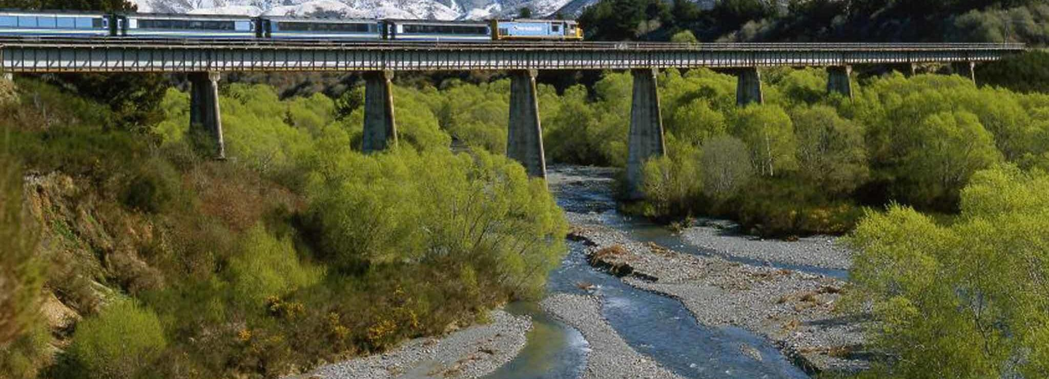 Vanuit Christchurch: Arthur's Pass met TranzAlpine-trein