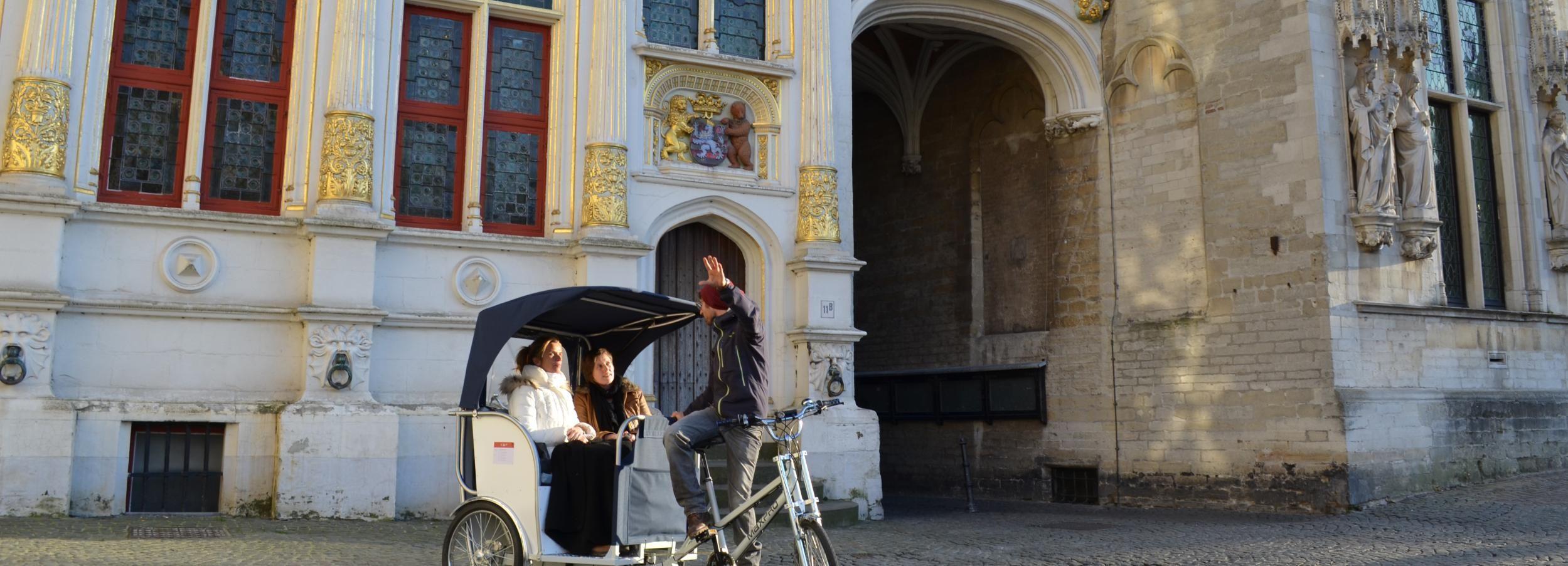 Bruges: tour guidato privato di Pedicab