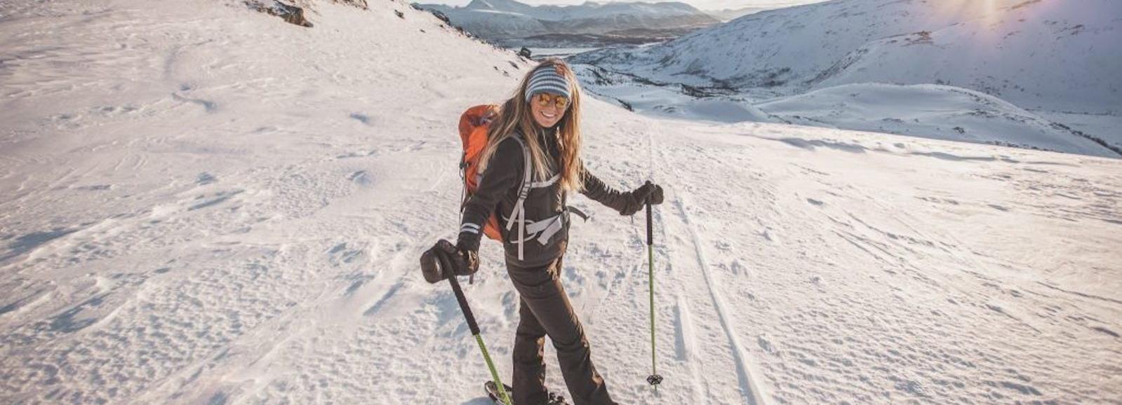 Vanuit Tromsø: sneeuwschoenwandelen met gids