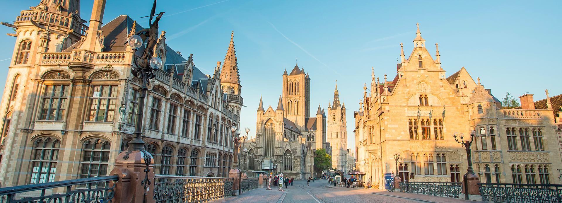 Ghent: Tour guiado de dia inteiro em inglês a partir de Bruxelas