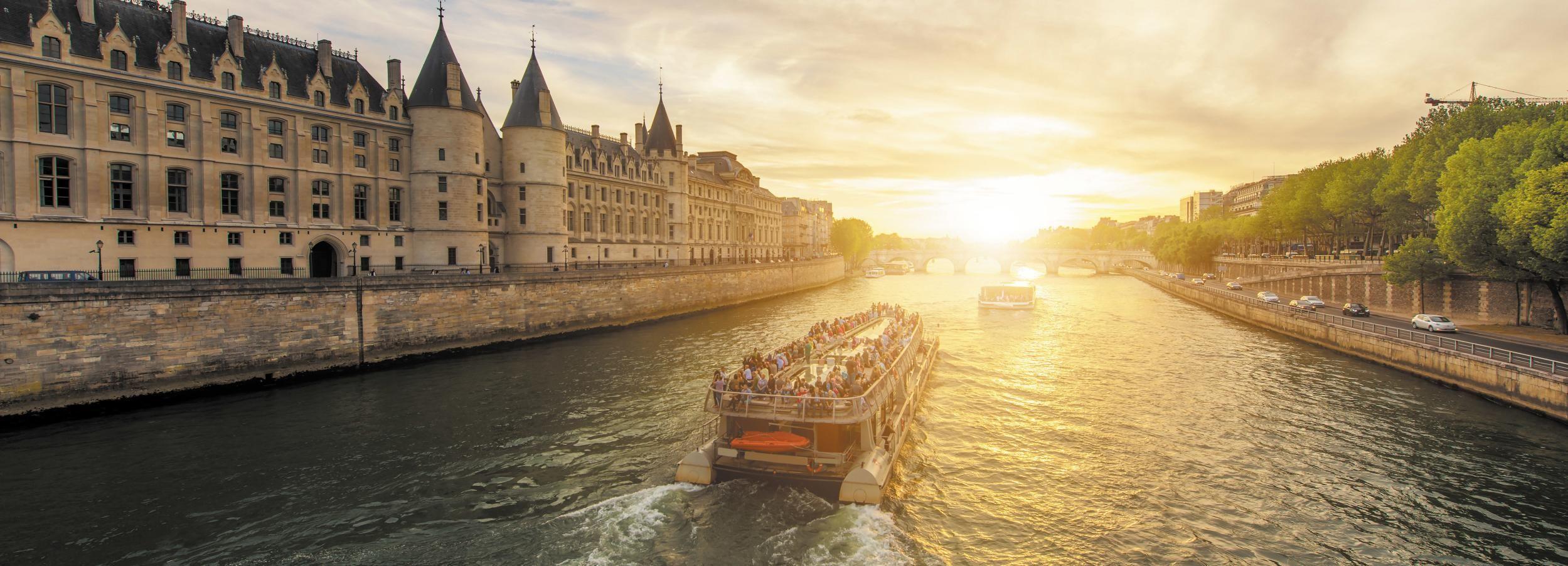 Parijs: rondvaart van 1 uur in het avondlicht