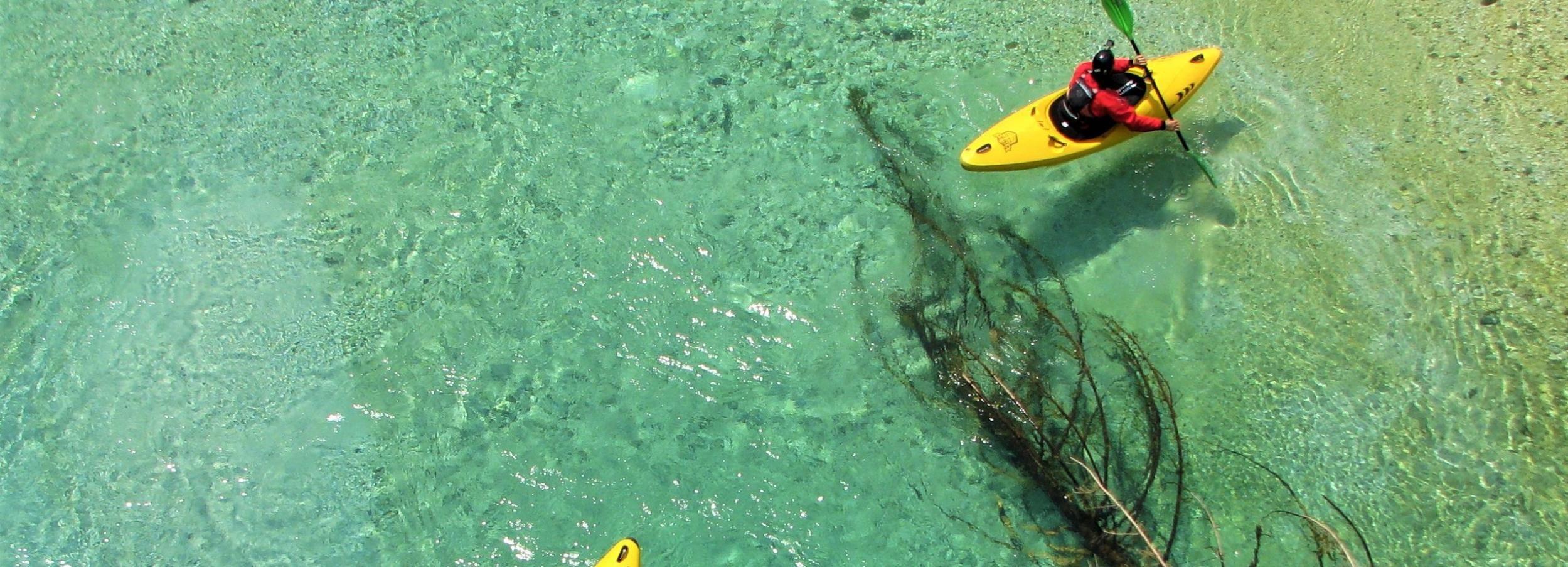Bovec: Soča River 1-Day Beginners Kayak Course
