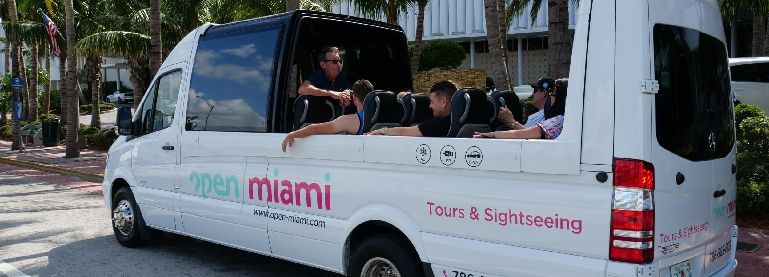 Recorrido turístico por Miami en un autobús descapotable