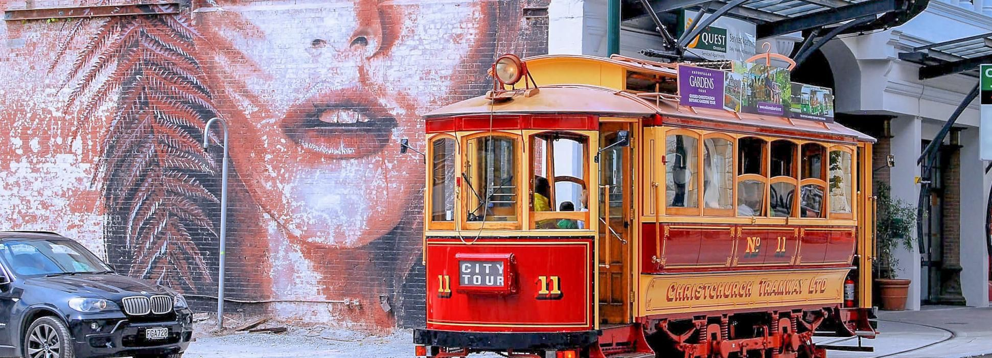 Christchurch: Vintage Tram, Punt and Gondola Ride Combo