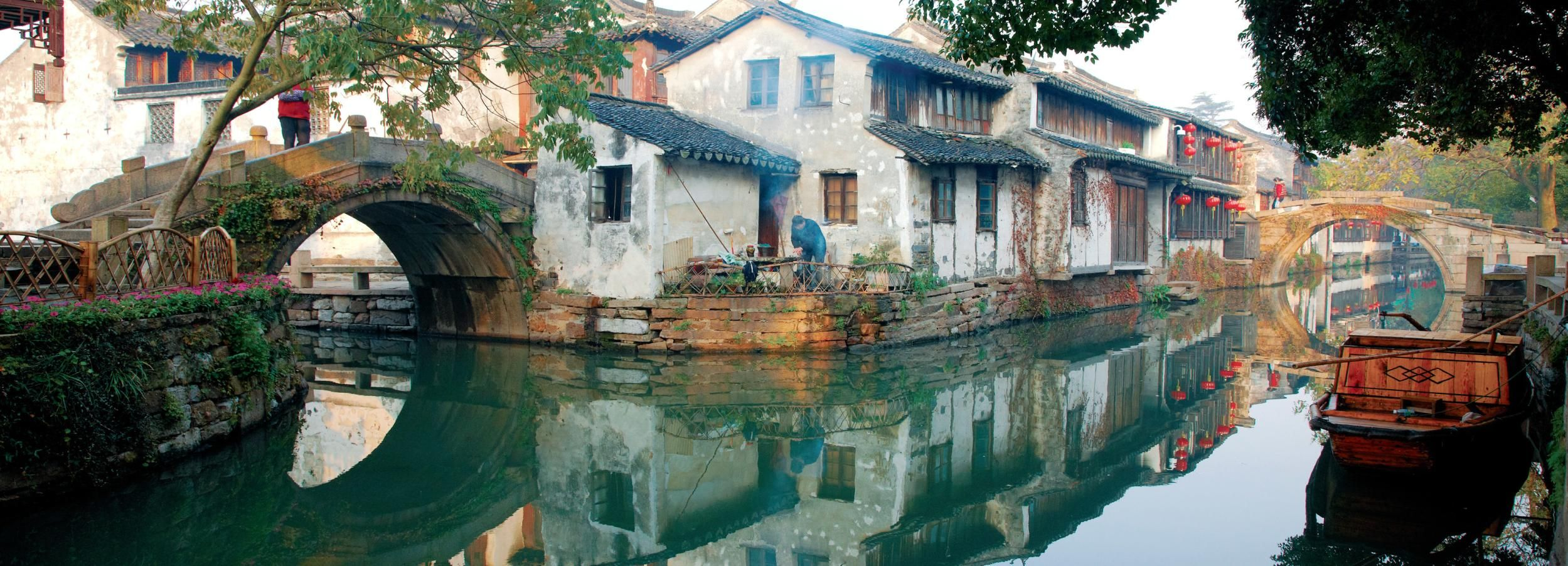 Zhouzhuang: Half Day Tour with Zhang Hall and Shen Hall
