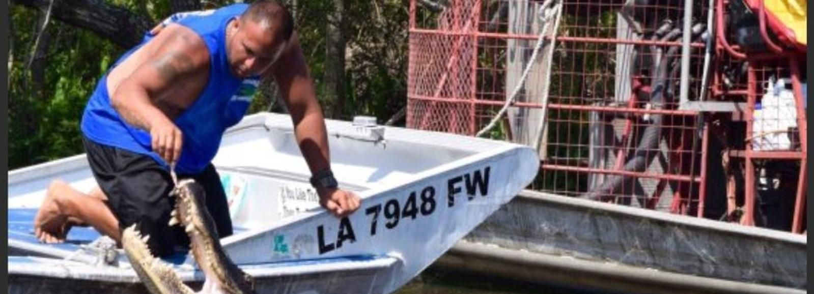 New Orleans High Speed 6-9 Airboat de pasajeros