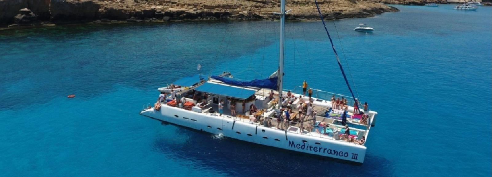 Ayia Napa y Protaras: Catamarán de día completo