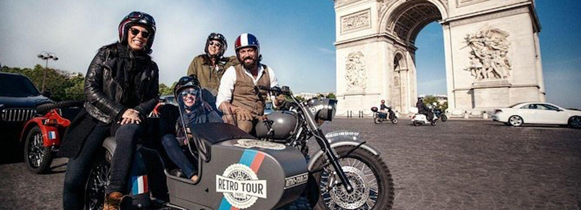 Paris: 1-Hour Classic Vintage Sidecar Motorcycle Tour