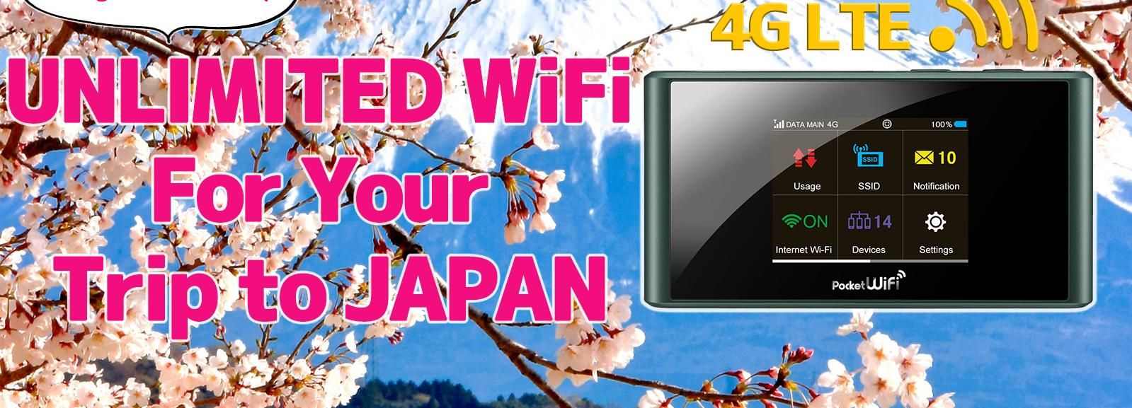 Shinjuku Pickup: Japan Pocket WiFi Router 4G LTE Unlimited