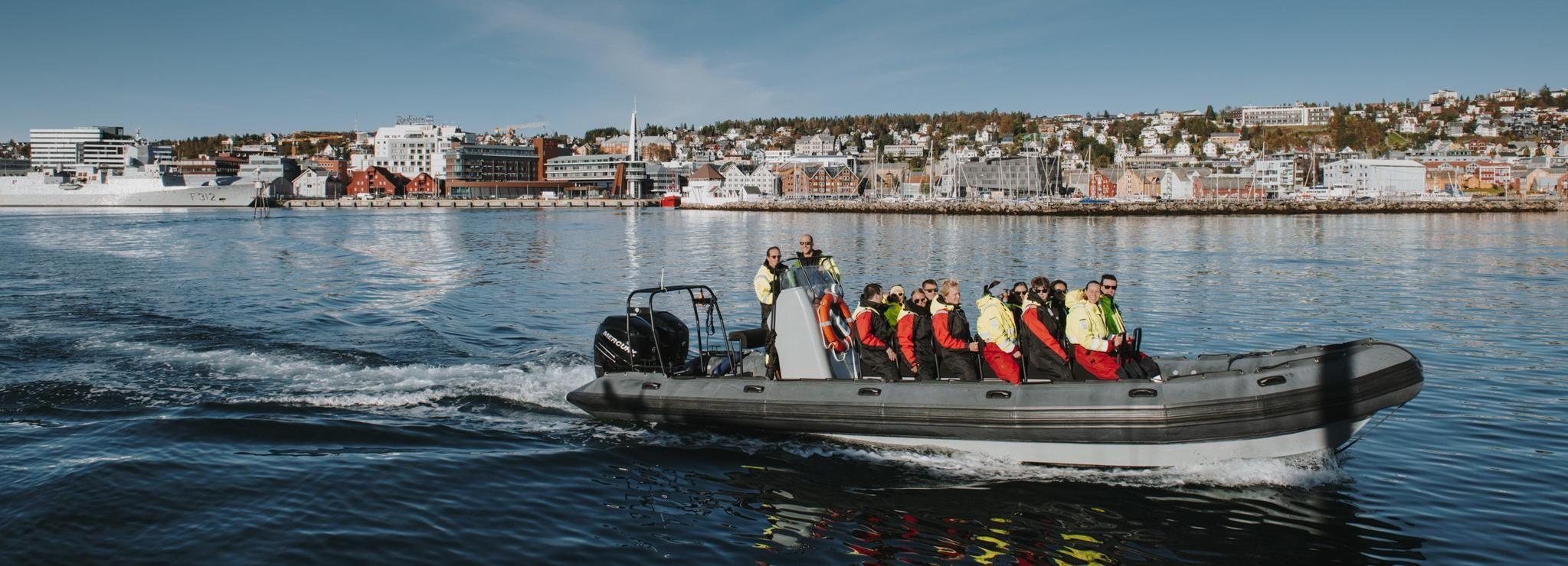Tromsø: fjordentocht per opblaasboot met vormvaste bodem