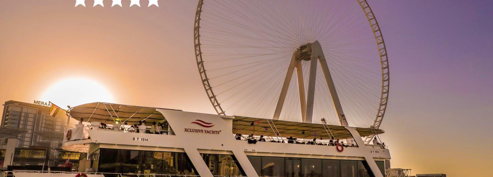 Dubaï: dîner-croisière au crépuscule, boissons à volonté