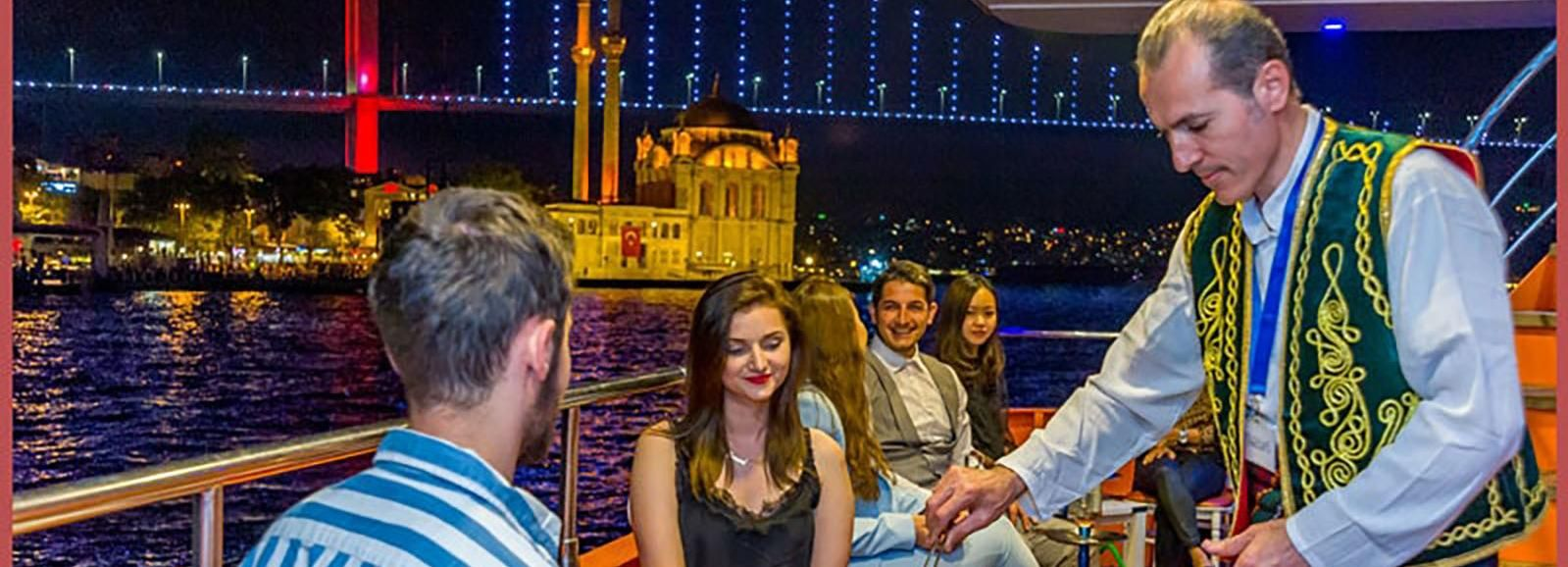 Istanbul: Bosphorus Night Dinner Cruise
