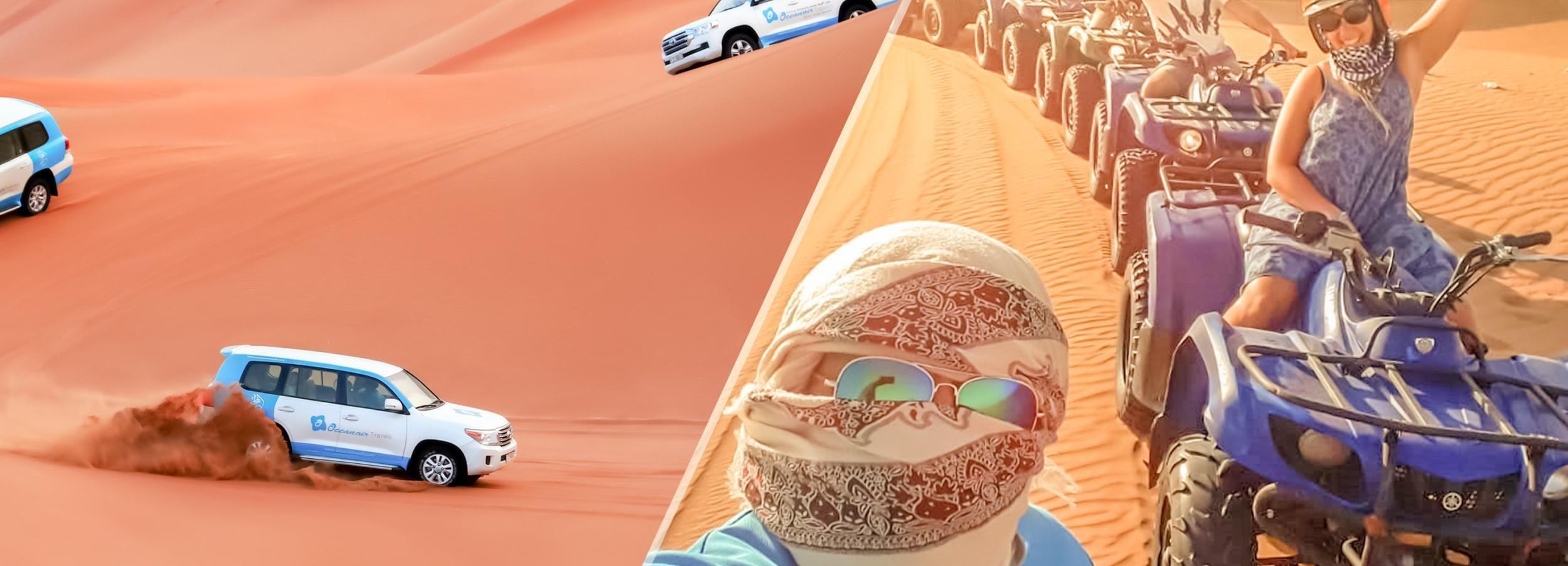 Excursão no Deserto c/ Quad, Camelo e Acampamento Al Khayma