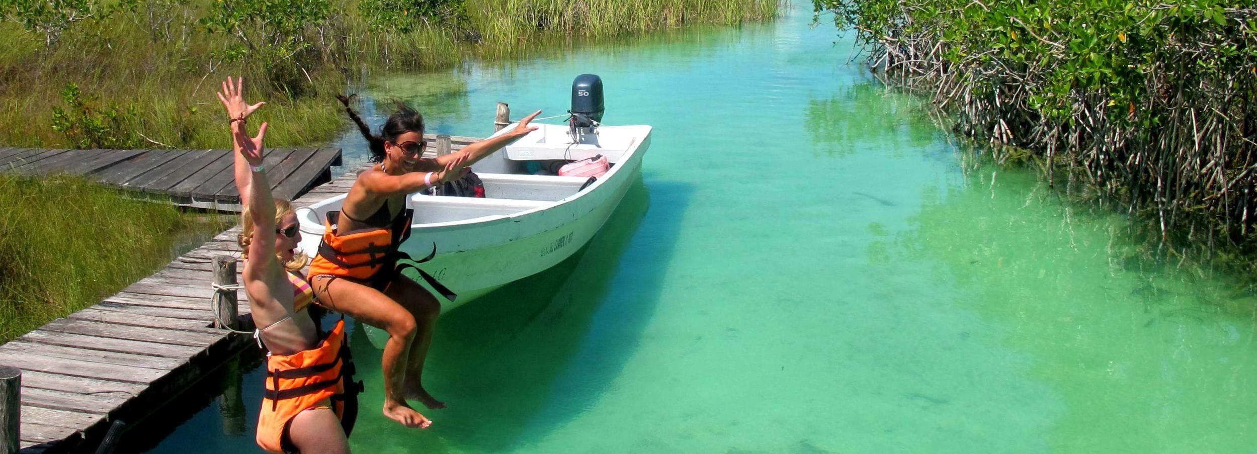Tulum: lagunas de Sian Kaan y cenote Escondido