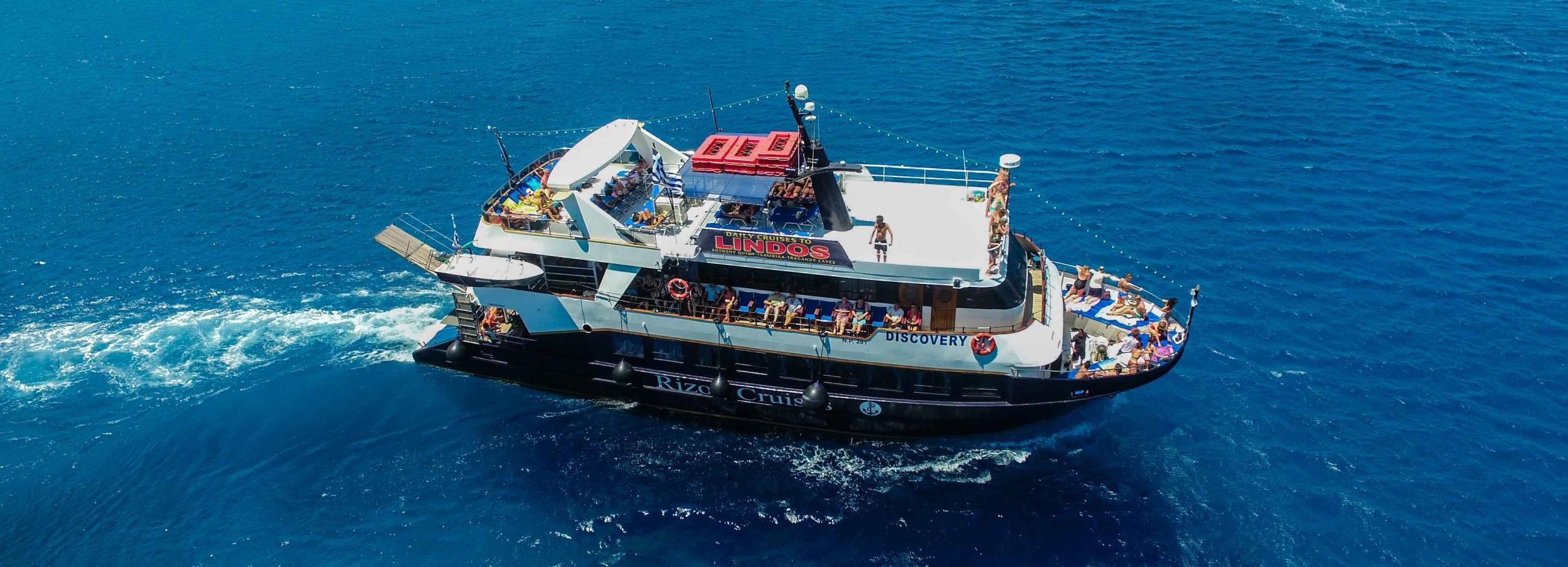 From Rhodes City: Full-Day Boat Trip to Lindos