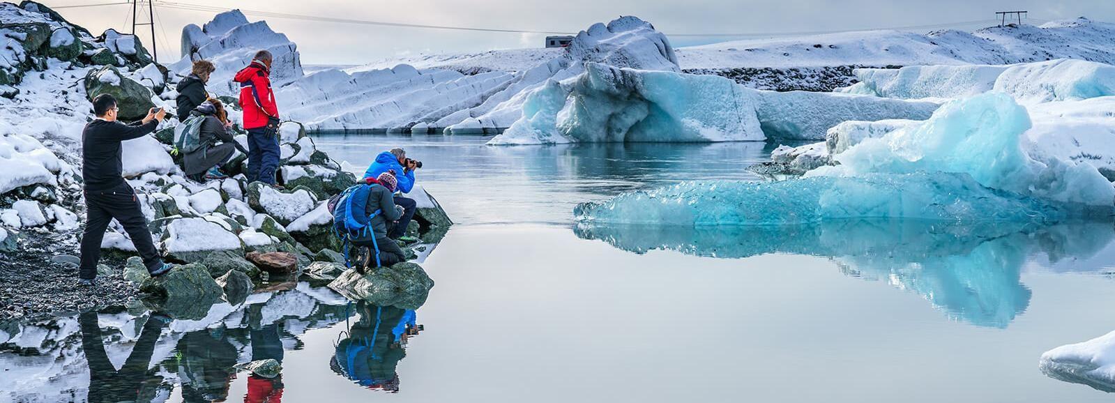 Island: Heldagstur till sydkusten och issjön Jökulsárlón