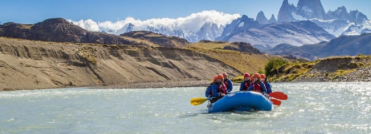 De El Calafate: aventura de dia inteiro em Rafting em El Chaltén