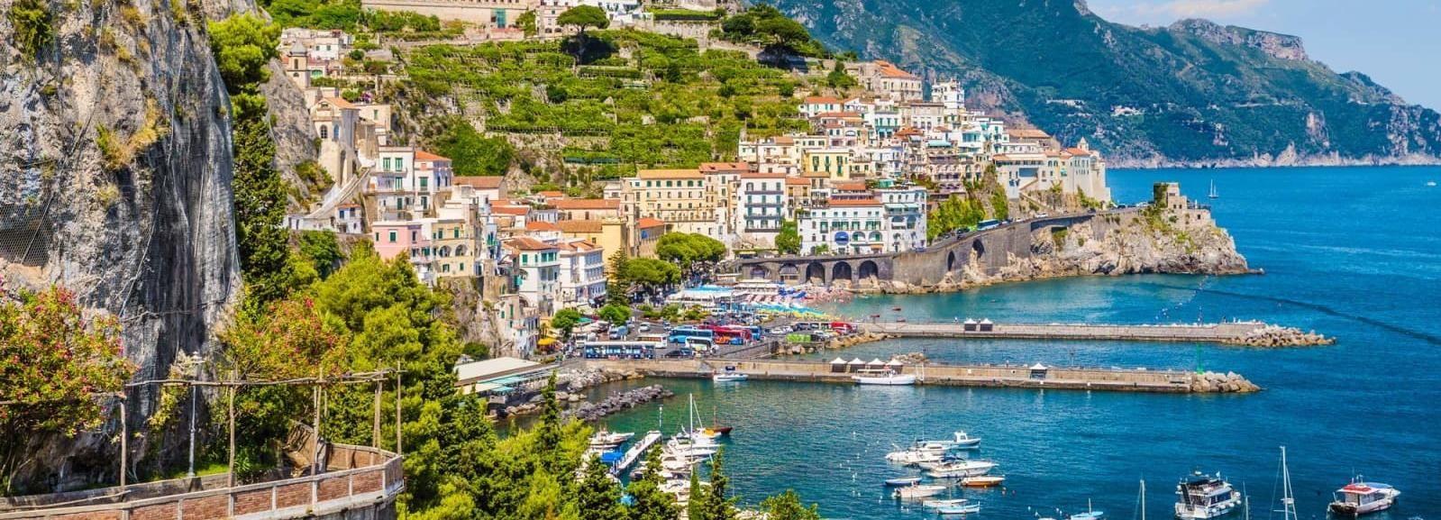 Desde Sorrento: Amalfi y Positano, excursión en barco compartido de día completo