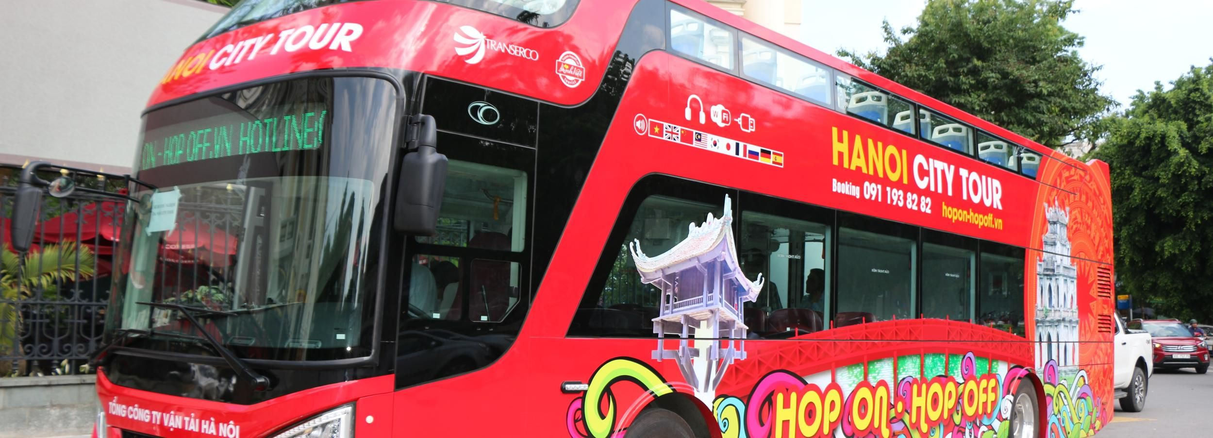 Hanoi: 1.5-Hour Hop-On Hop-Off City Bus Tour By Night