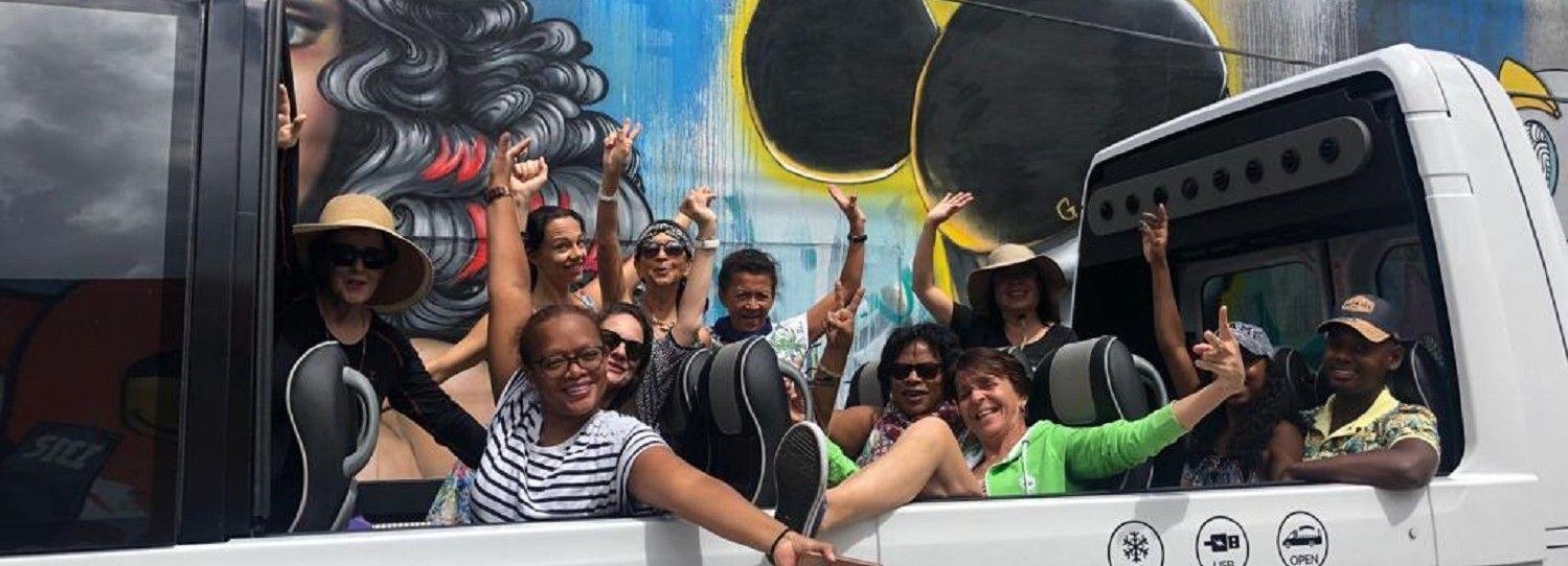 Miami: tour panorámico en un autobús descapotable (francés)