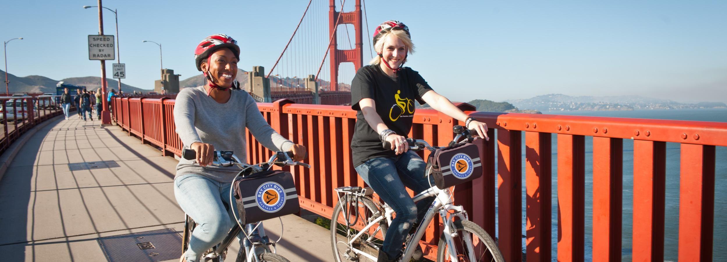 San Francisco: Golden Gate Bridge-Radtour & Alcatraz-Ticket