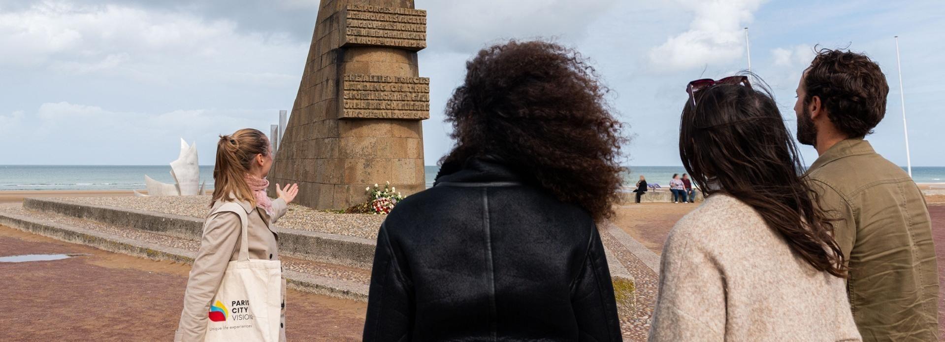 Desde París: playas de la batalla de Normandía en minibús