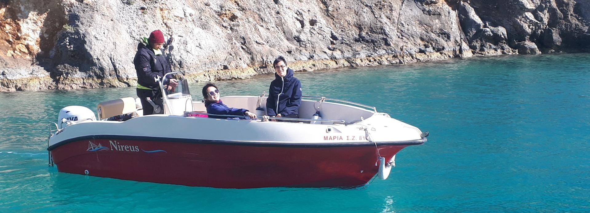 Porto Vromi: tour privado en barco por la playa de Navagio y las cuevas azules
