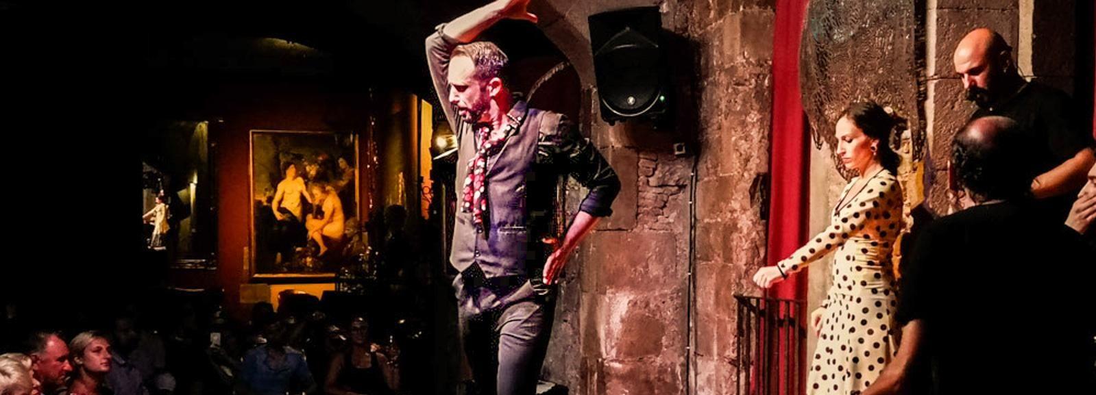 Barcelone: visite de la ville et spectacle de flamenco avec vin et tapas