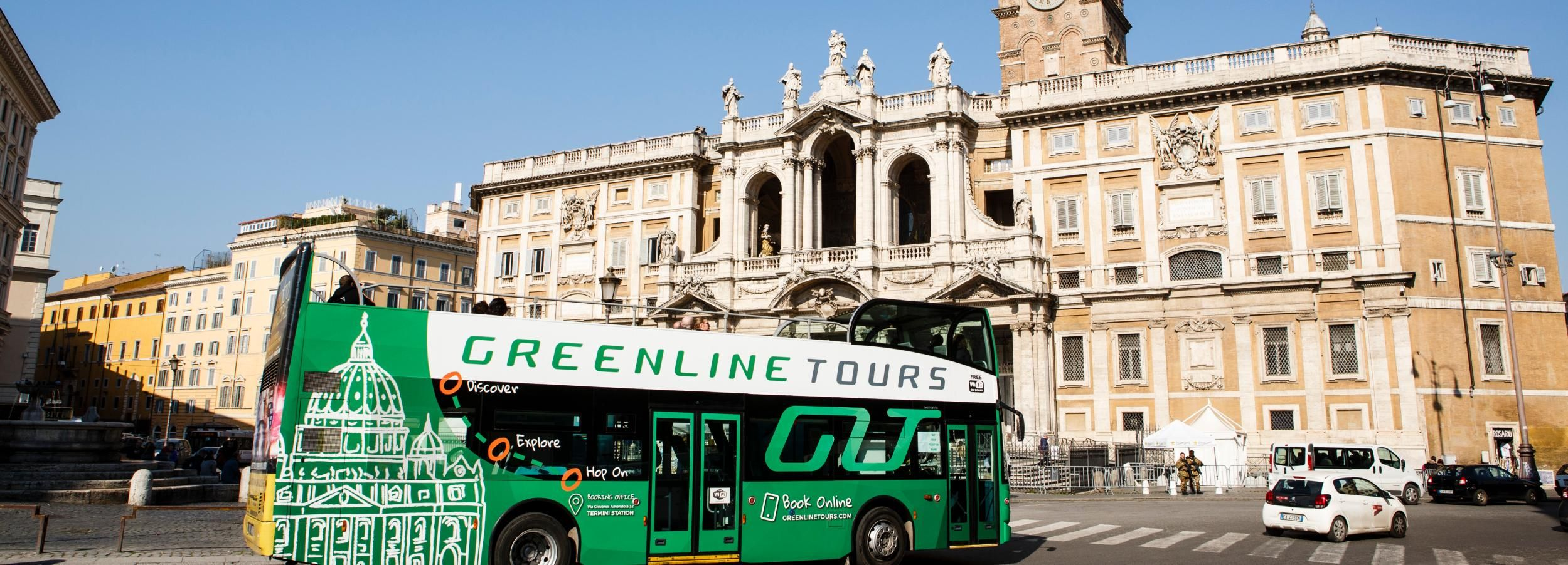 Rome Hop-On Hop-Off Panoramic Bus 24/48-Hour Tickets