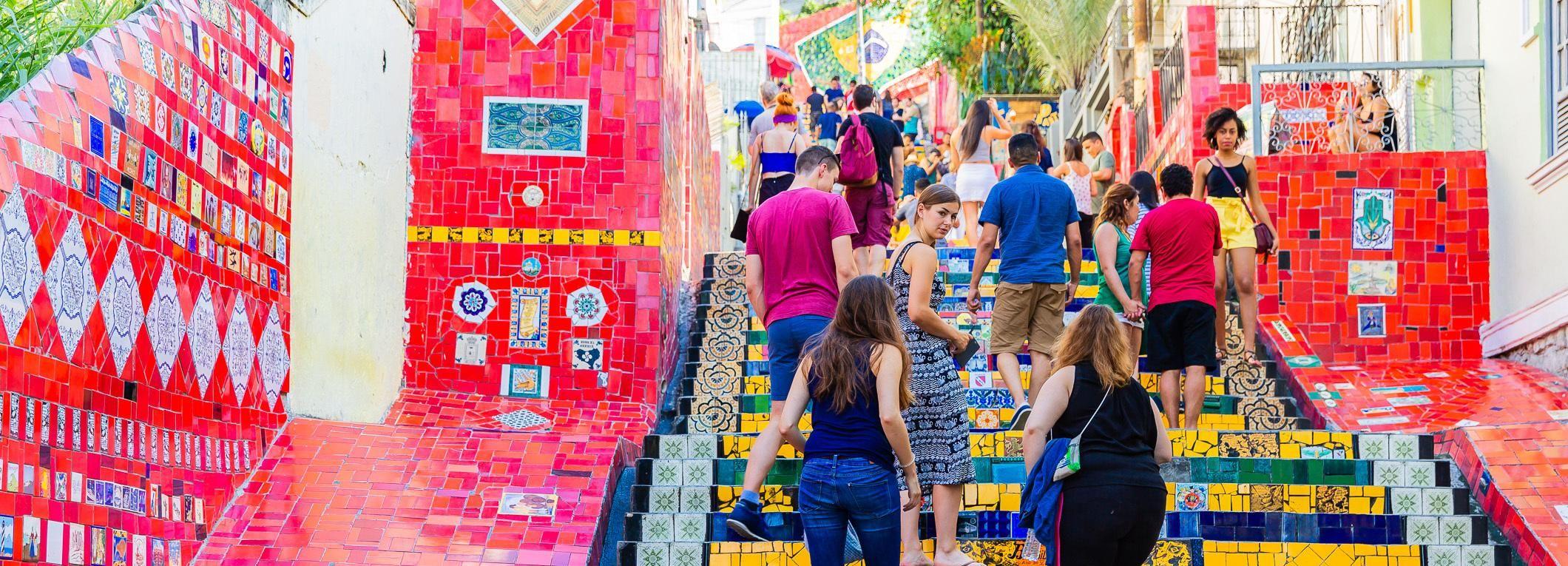 Rio: Halbtägige Tour zur Christo Redentor & Selarón-Treppe