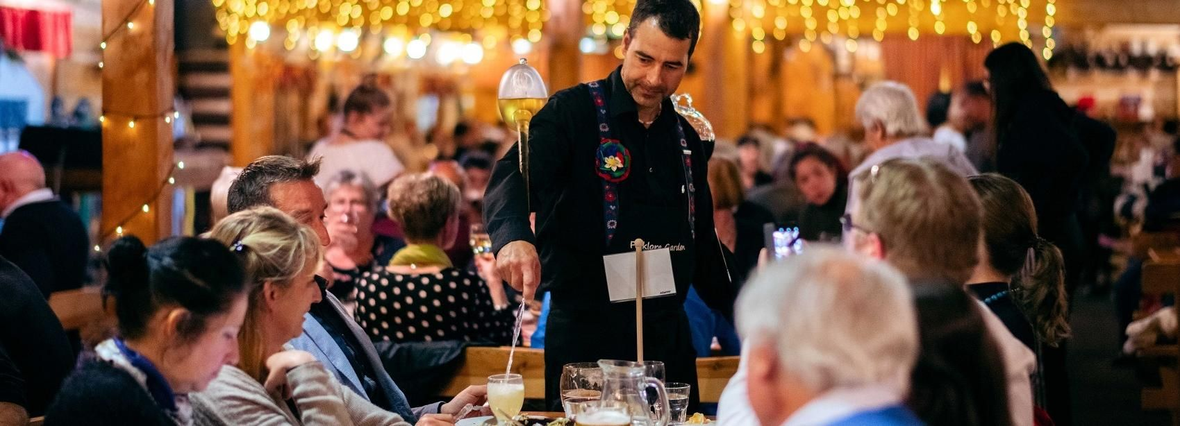 Prague: Evening Folklore Garden Party with Traditional Menu