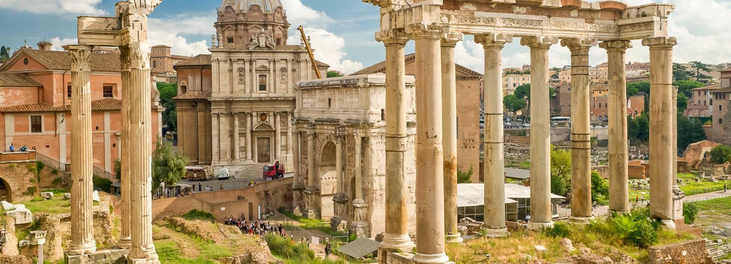 Rome: visite rapide du Colisée, du Forum et des Palatinats