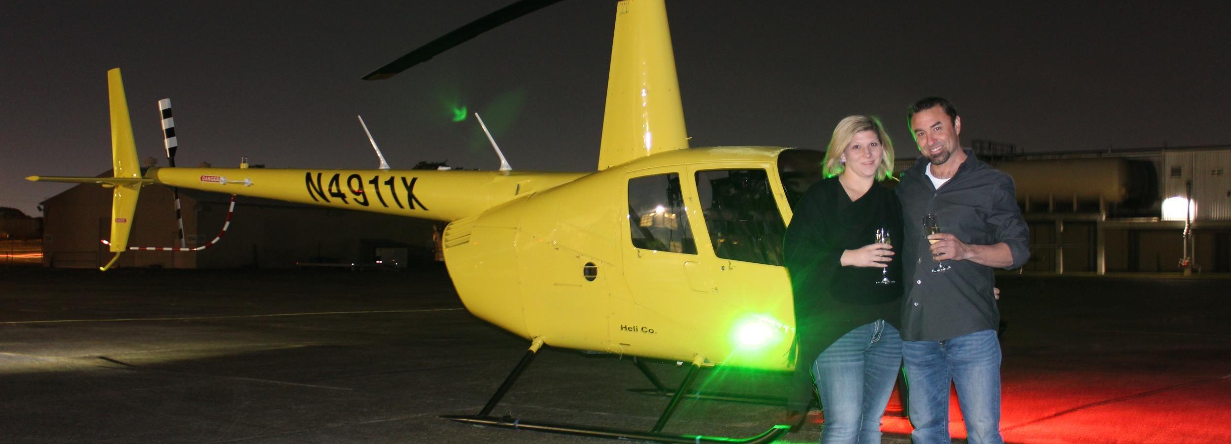 Nueva Orleans: tour nocturno privado en helicóptero City Lights