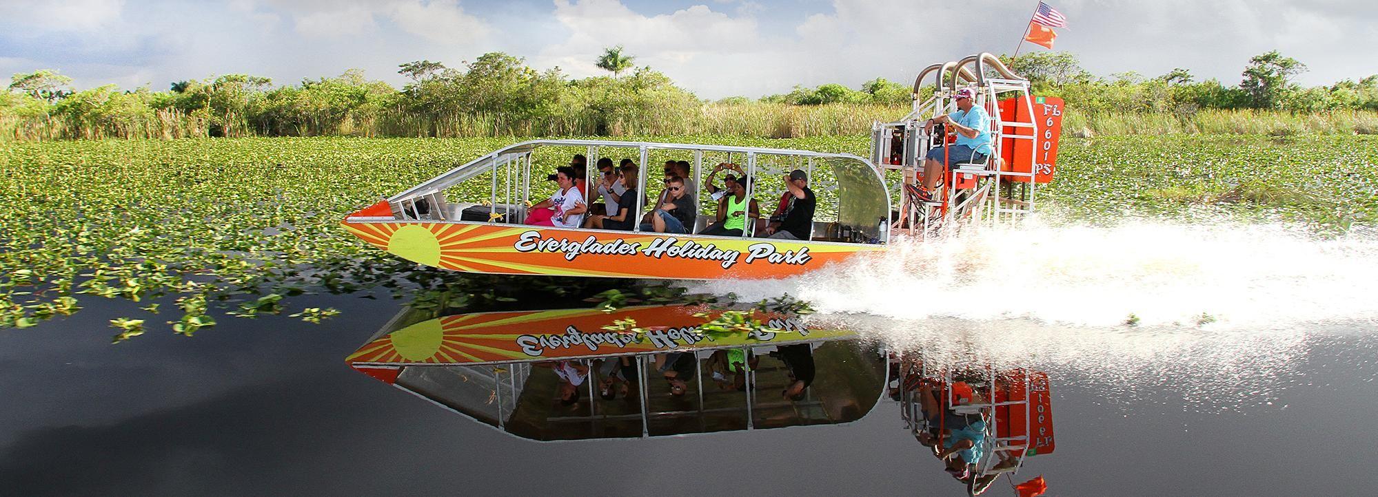 Desde Miami: Everglades en hidrodeslizador y espectáculo
