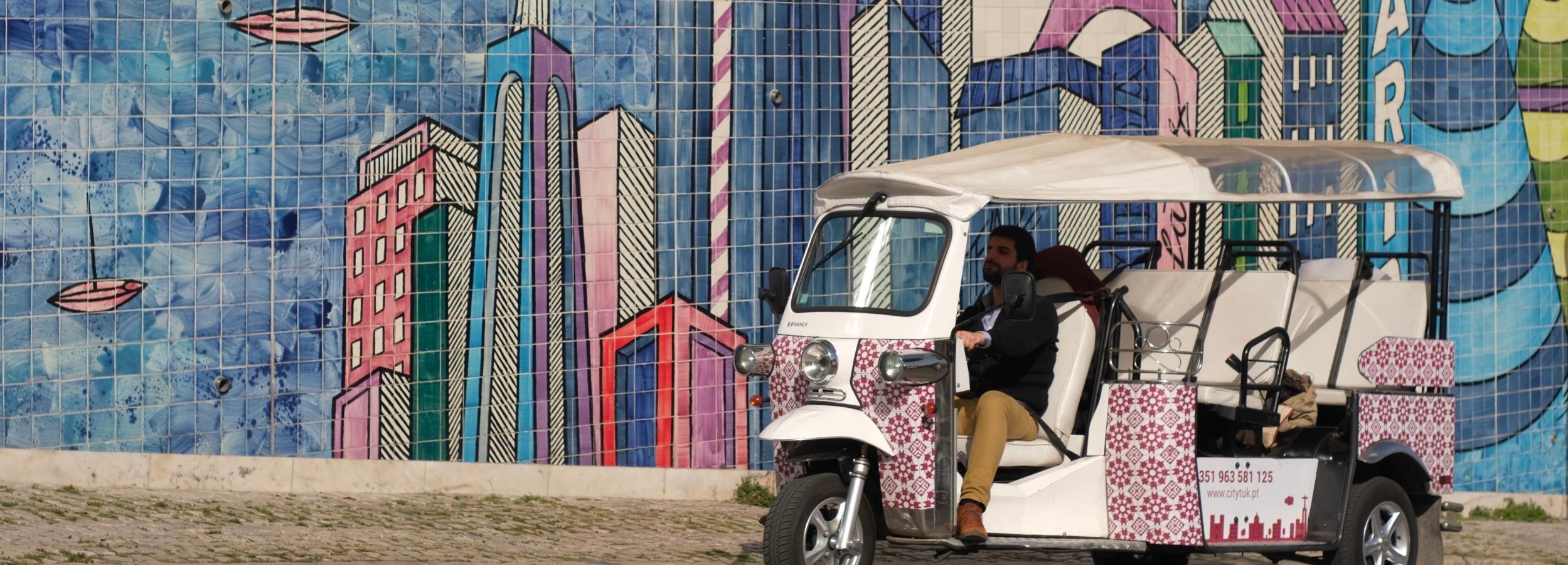 Lisboa: Excursão Turística de 3 Horas de Tuk Tuk