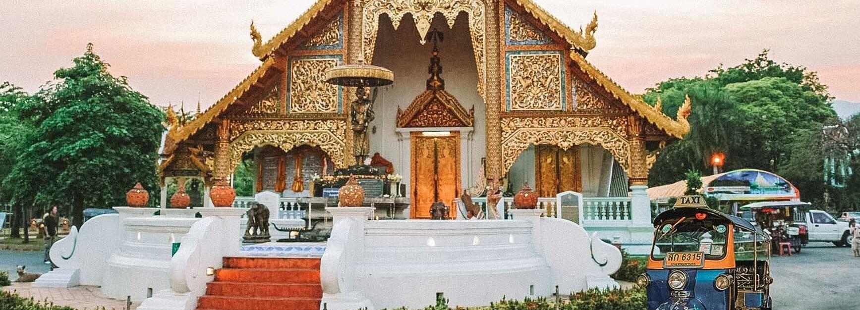 Chiang Mai: tour privado de Tuk Tuk por los templos de la ciudad con recogida