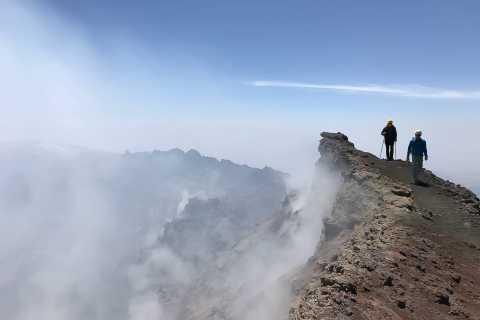 Etna: wjazd koleją linową i jeepem oraz wędrówka na szczyt