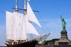 Clipper City Tall Ship Estátua Vela
